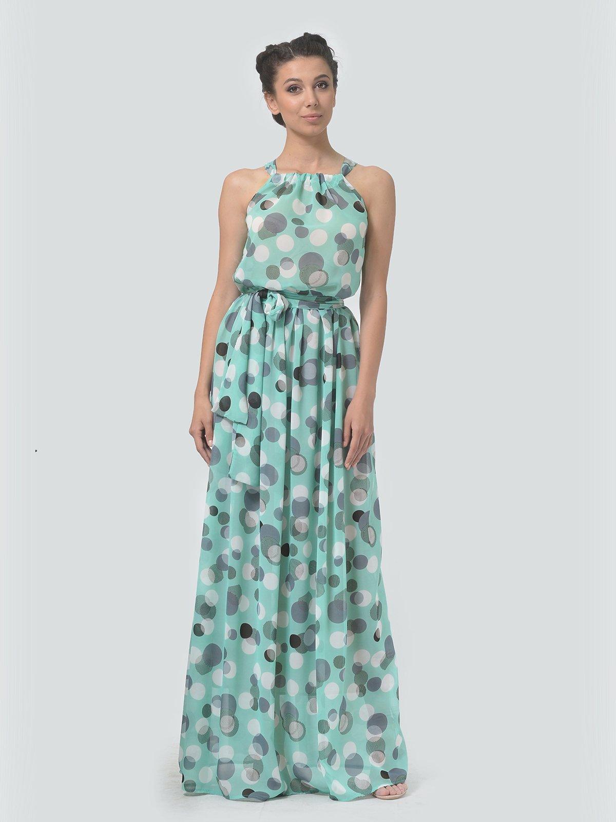 Сукня м'ятного кольору в горошок   3415826