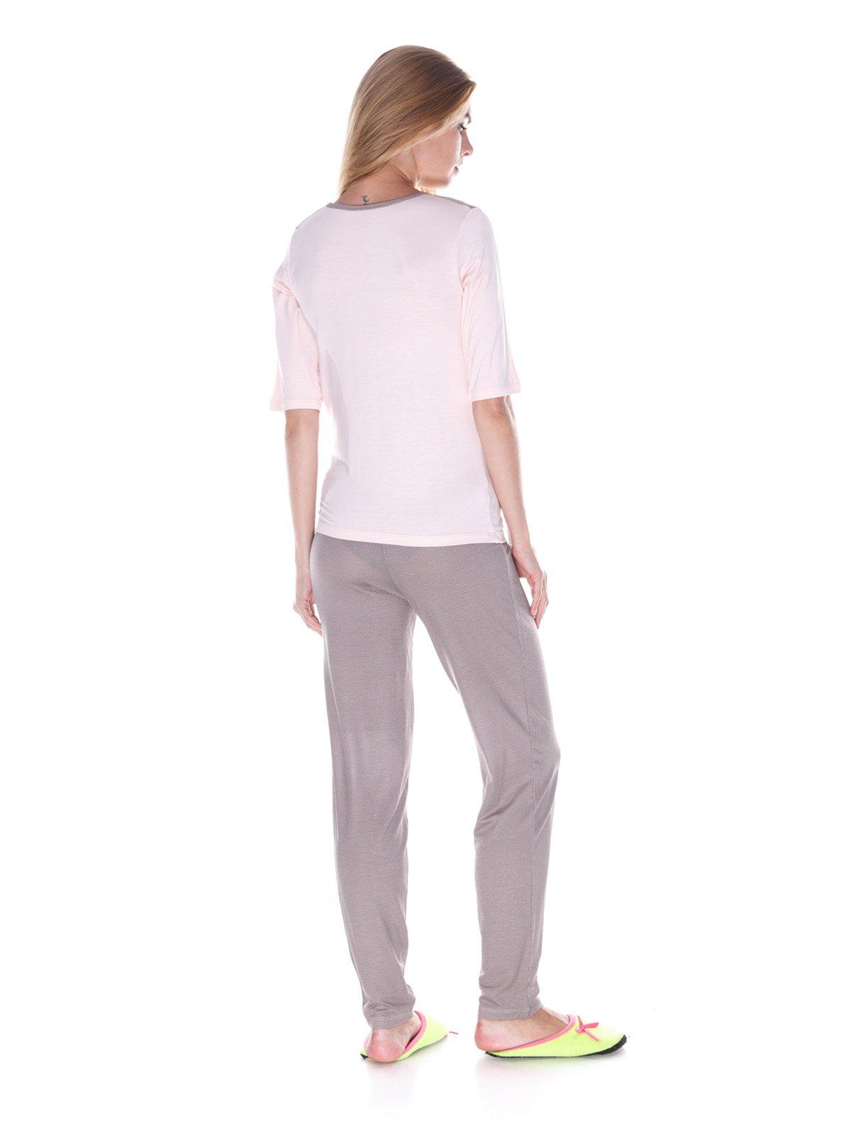 Пижама: лонгслив и брюки   3240344   фото 2