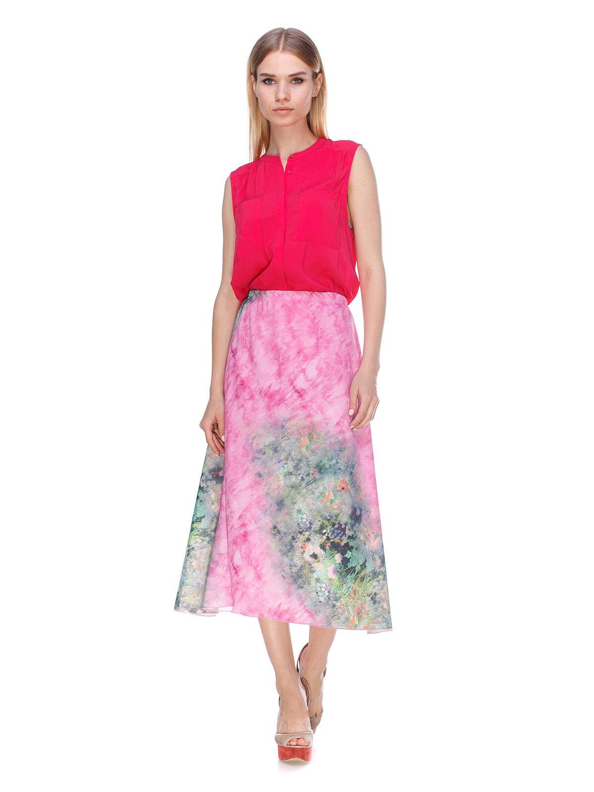 Юбка розовая с принт   3409791