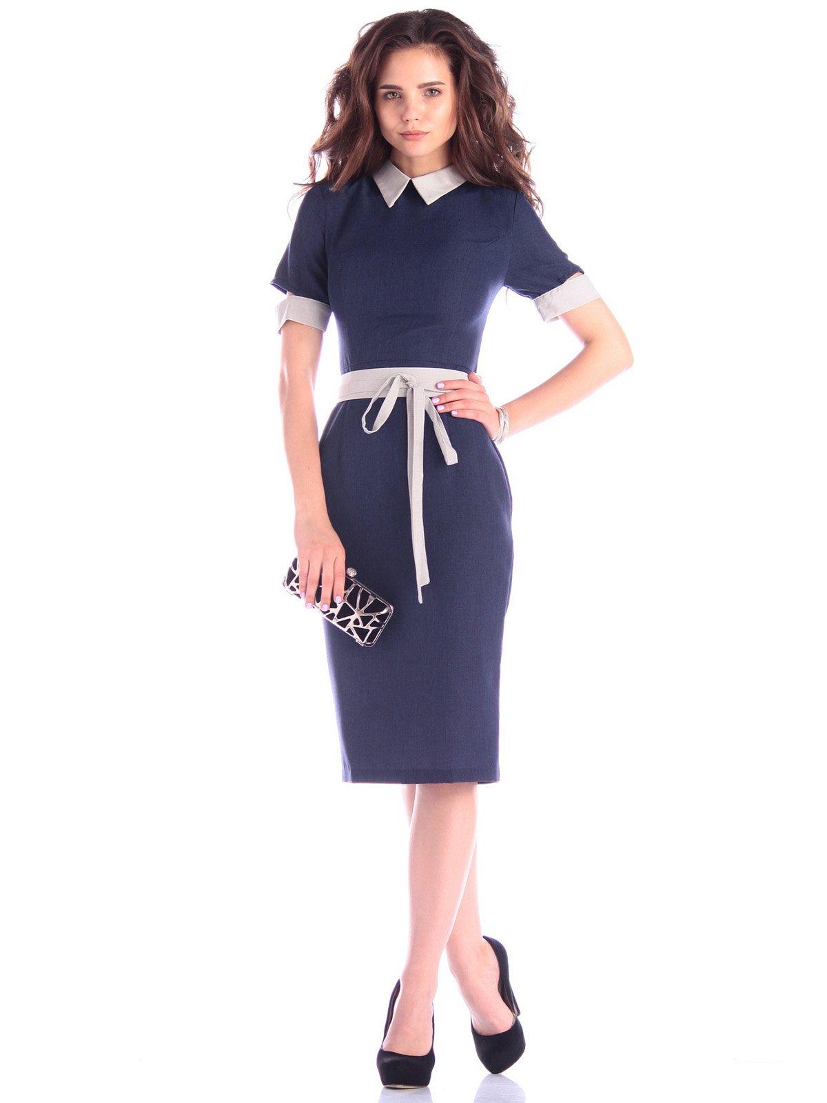 Платье темно-синее | 3430601