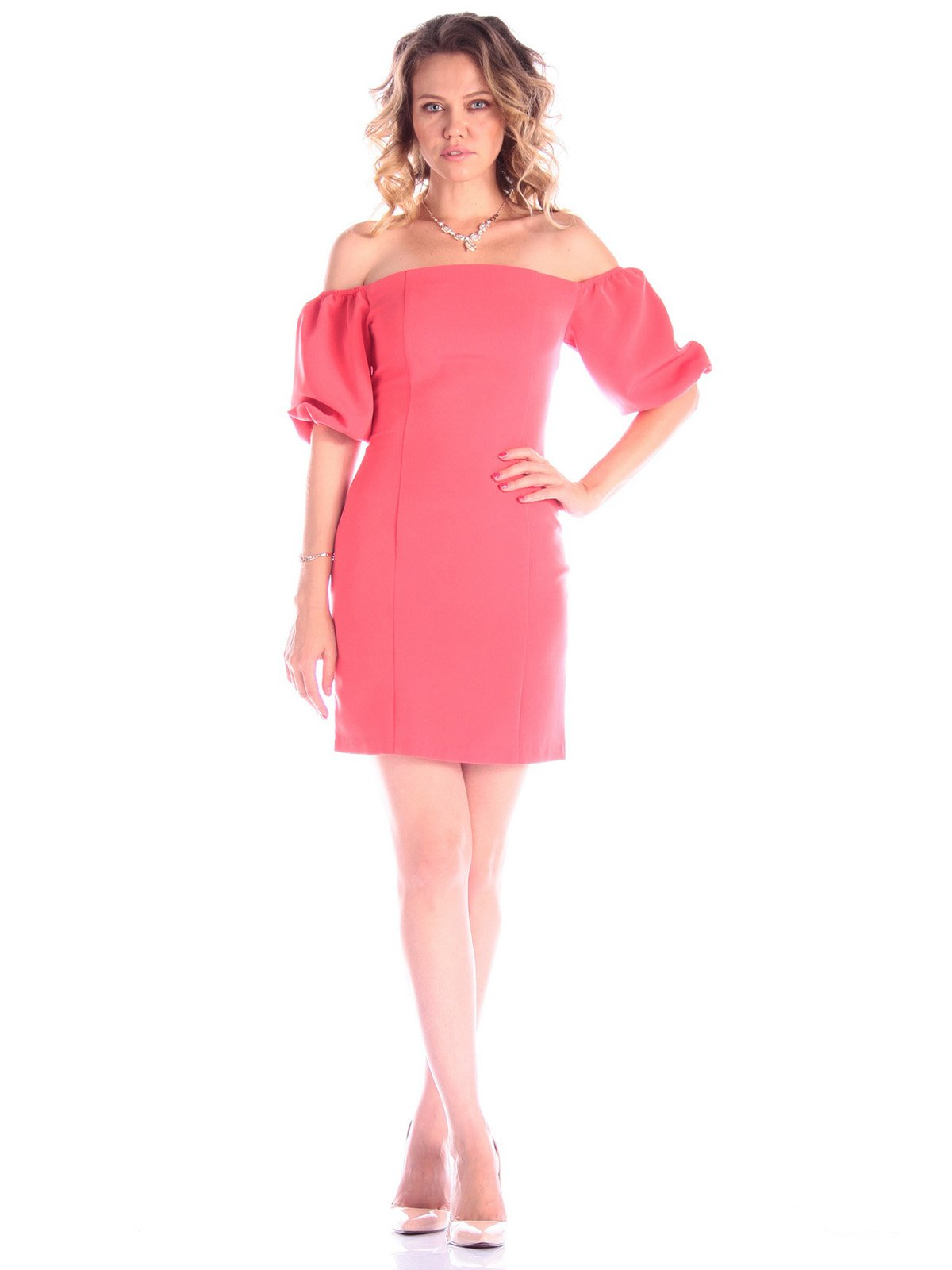 Платье коралловое   3431532