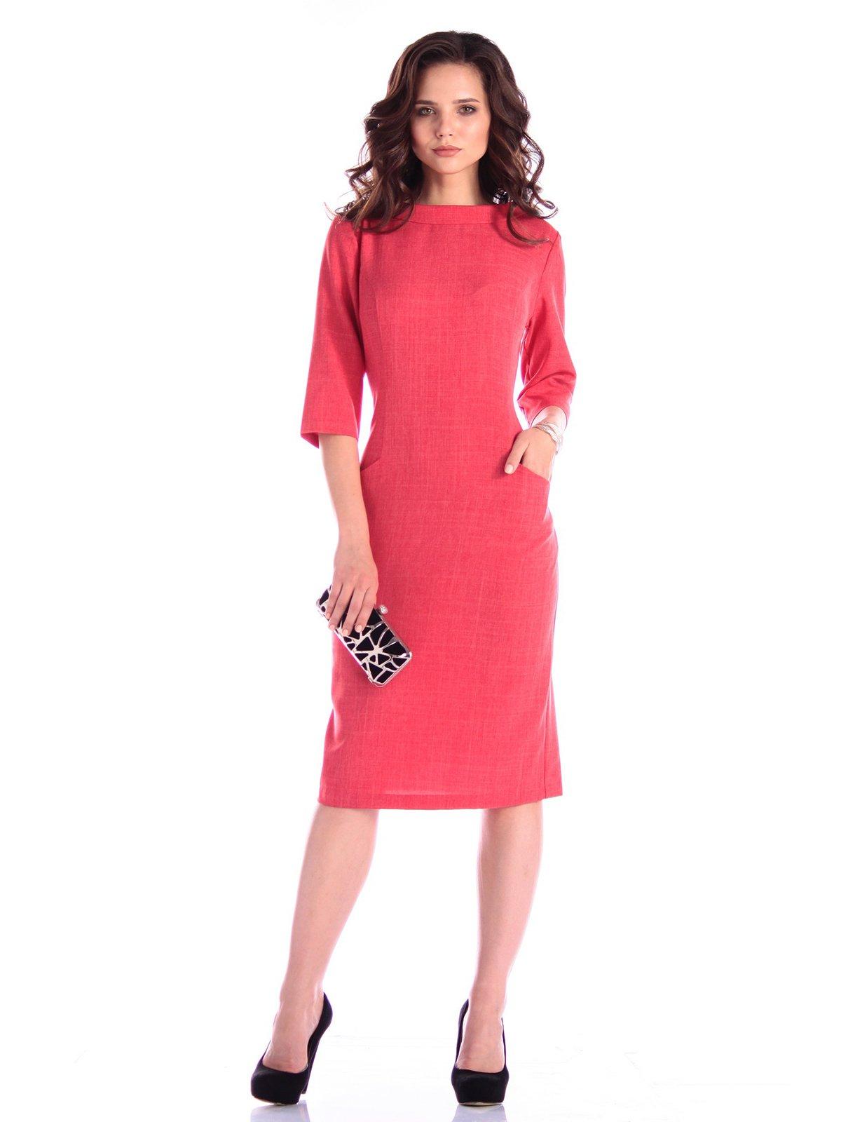 Сукня кольору червоний корал | 3400745