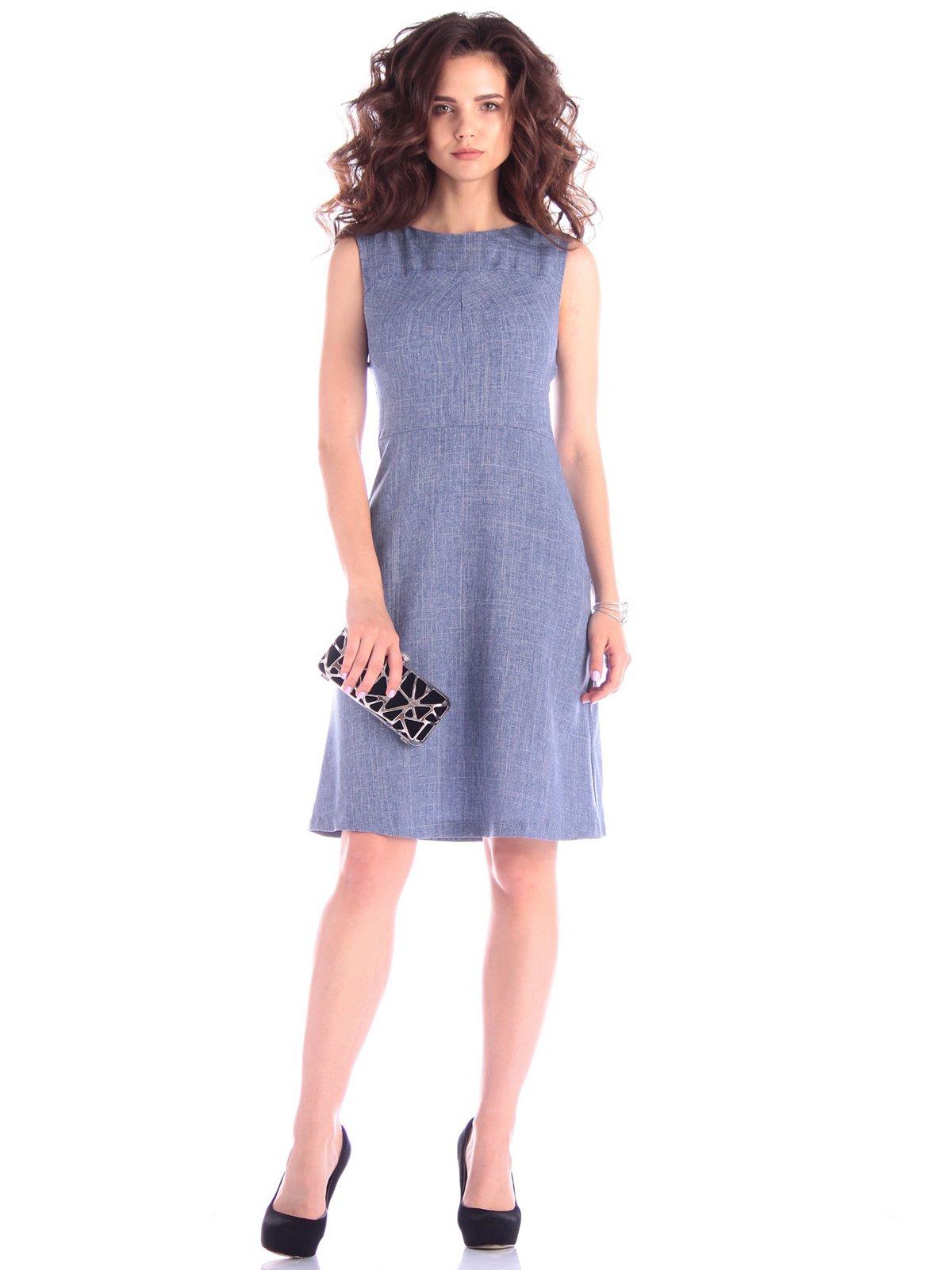 Сукня-сарафан кольору джинс | 3430444