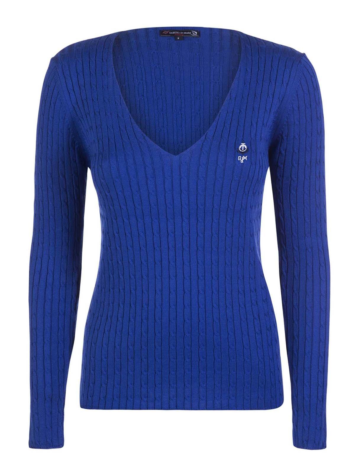 Пуловер синий | 3420931