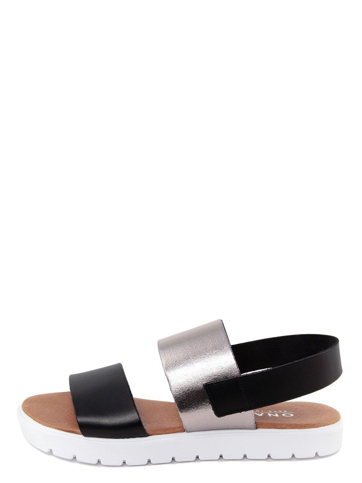 Сандалії сріблясто-чорні | 3435491