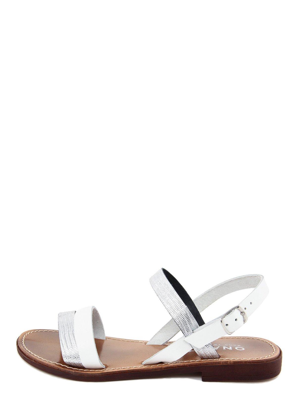 Сандалії сріблясто-білі | 3435501