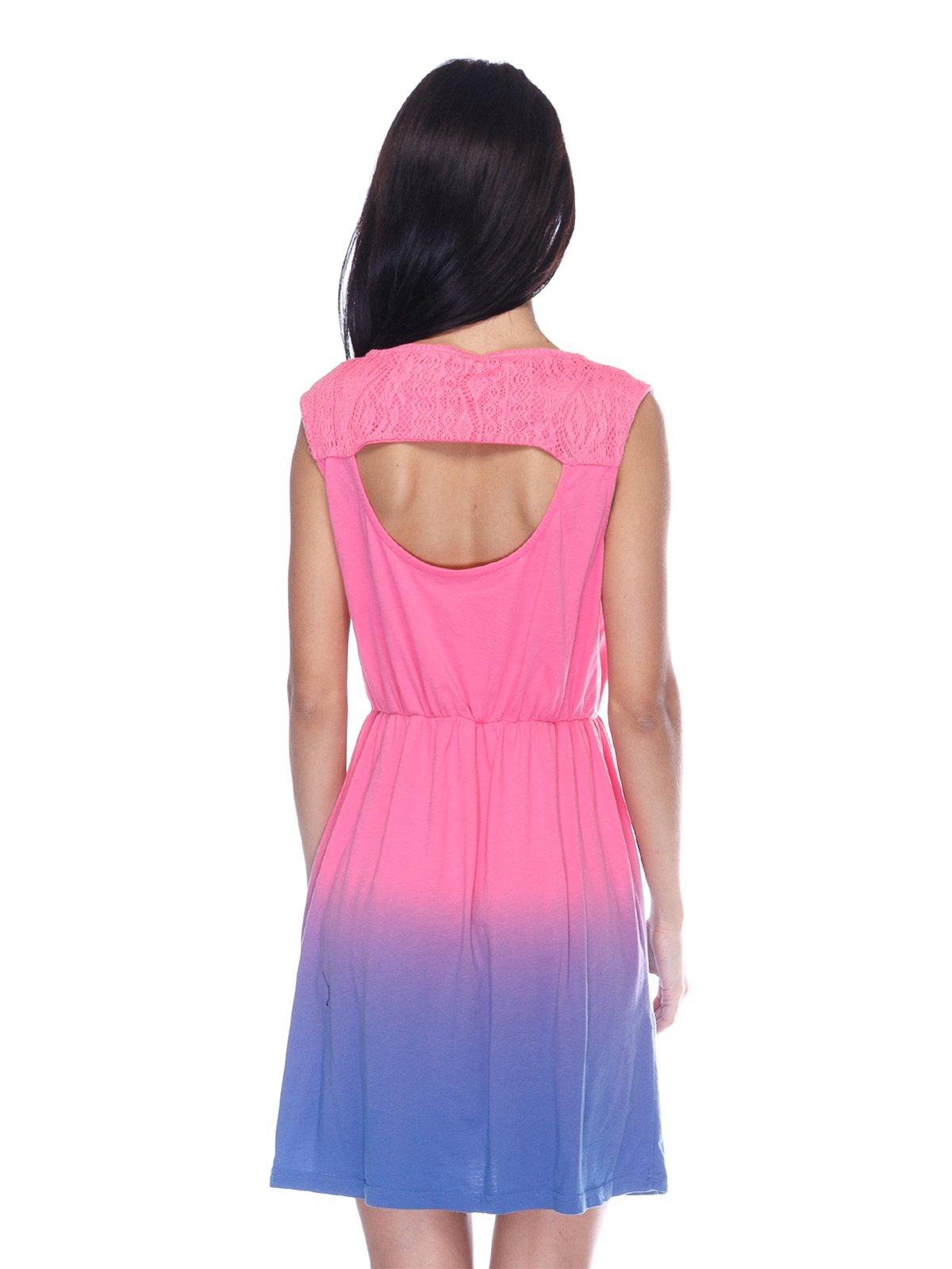 Платье розово-фиолетовое | 3431608 | фото 2