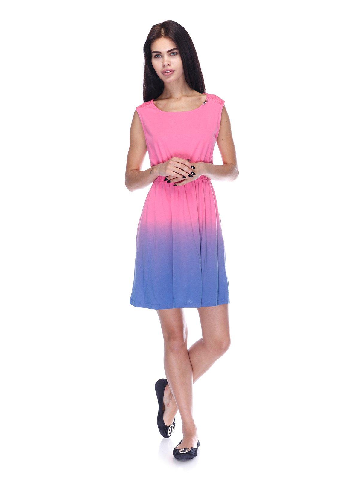 Платье розово-фиолетовое | 3431608 | фото 4
