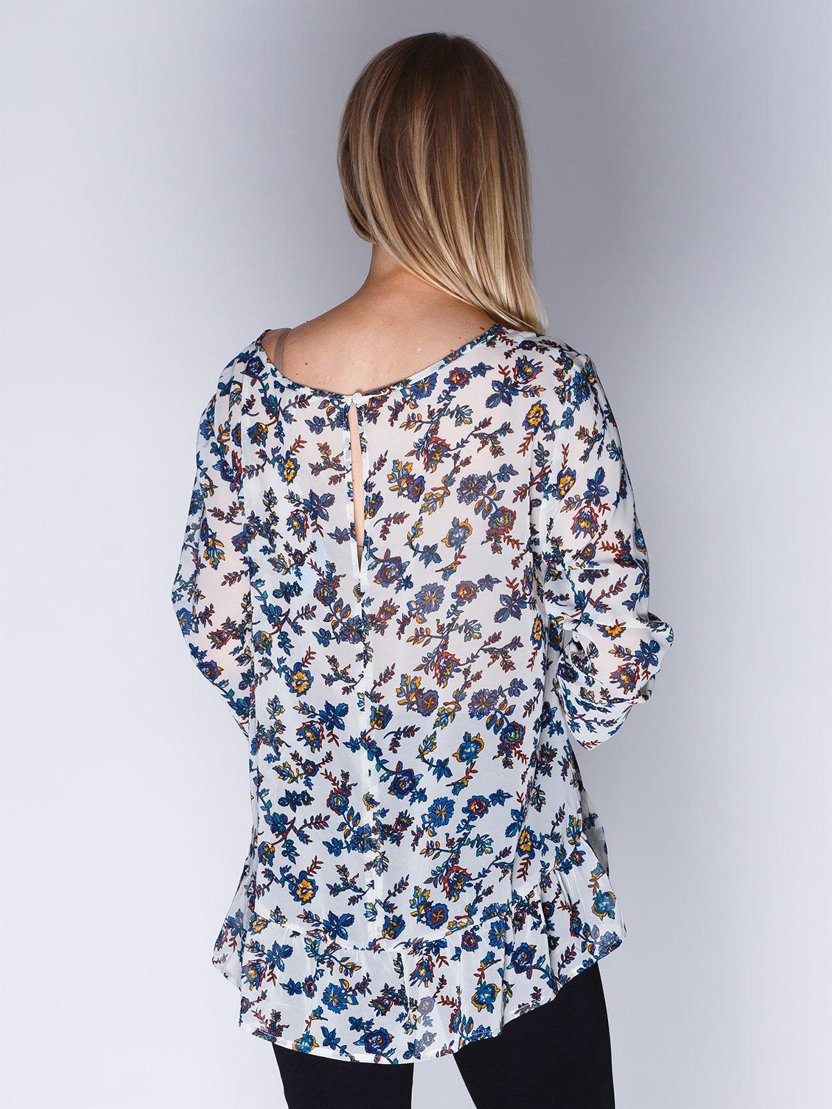 Блуза біла в квітковий принт | 1899417 | фото 2