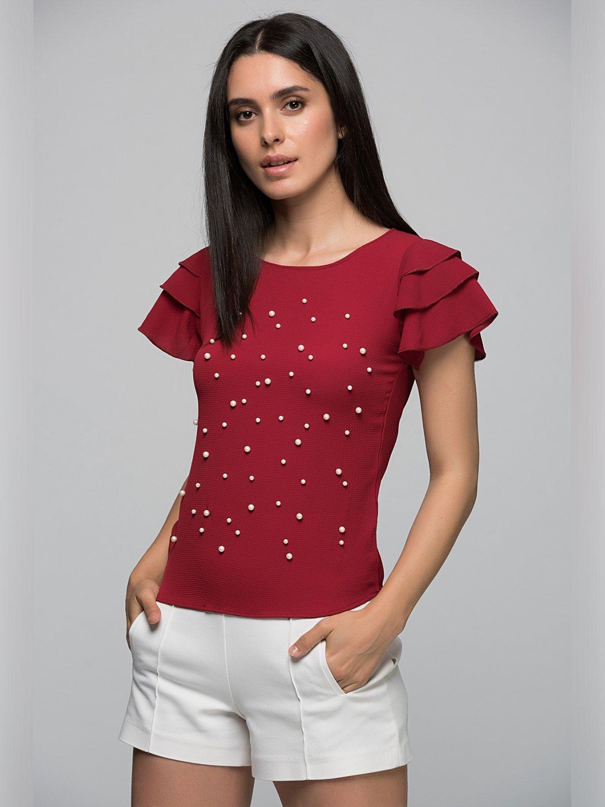 Блуза бордова | 3453866