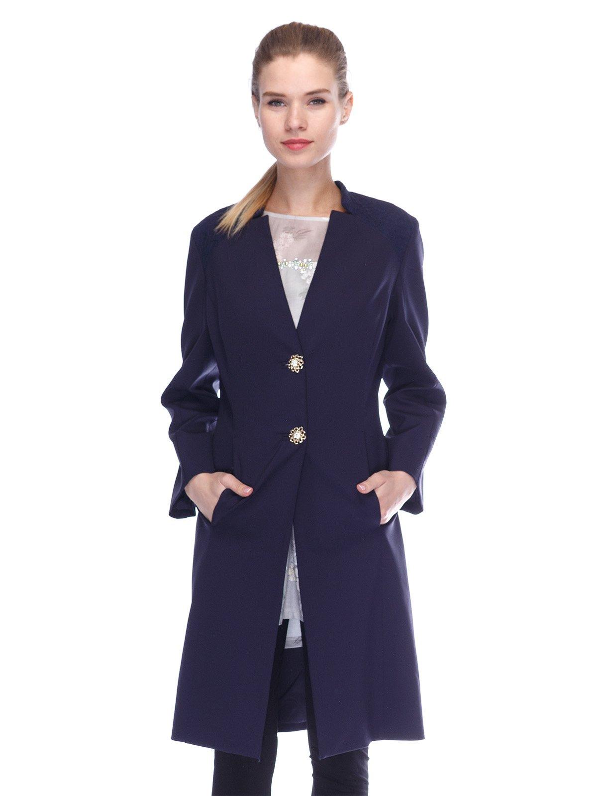 Пальто синее | 3455575