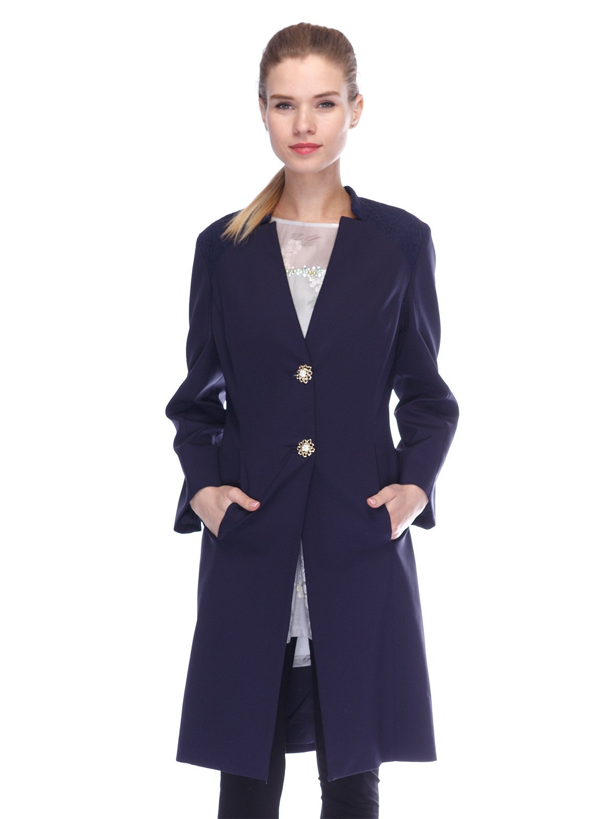 Пальто синє | 3455575