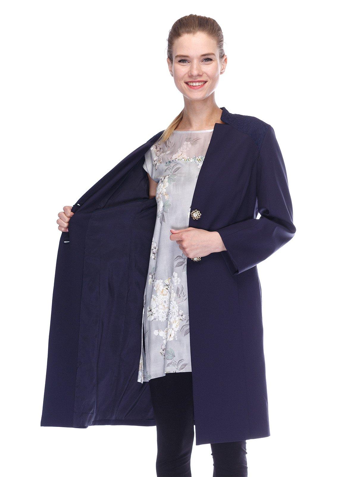 Пальто синее | 3455575 | фото 5