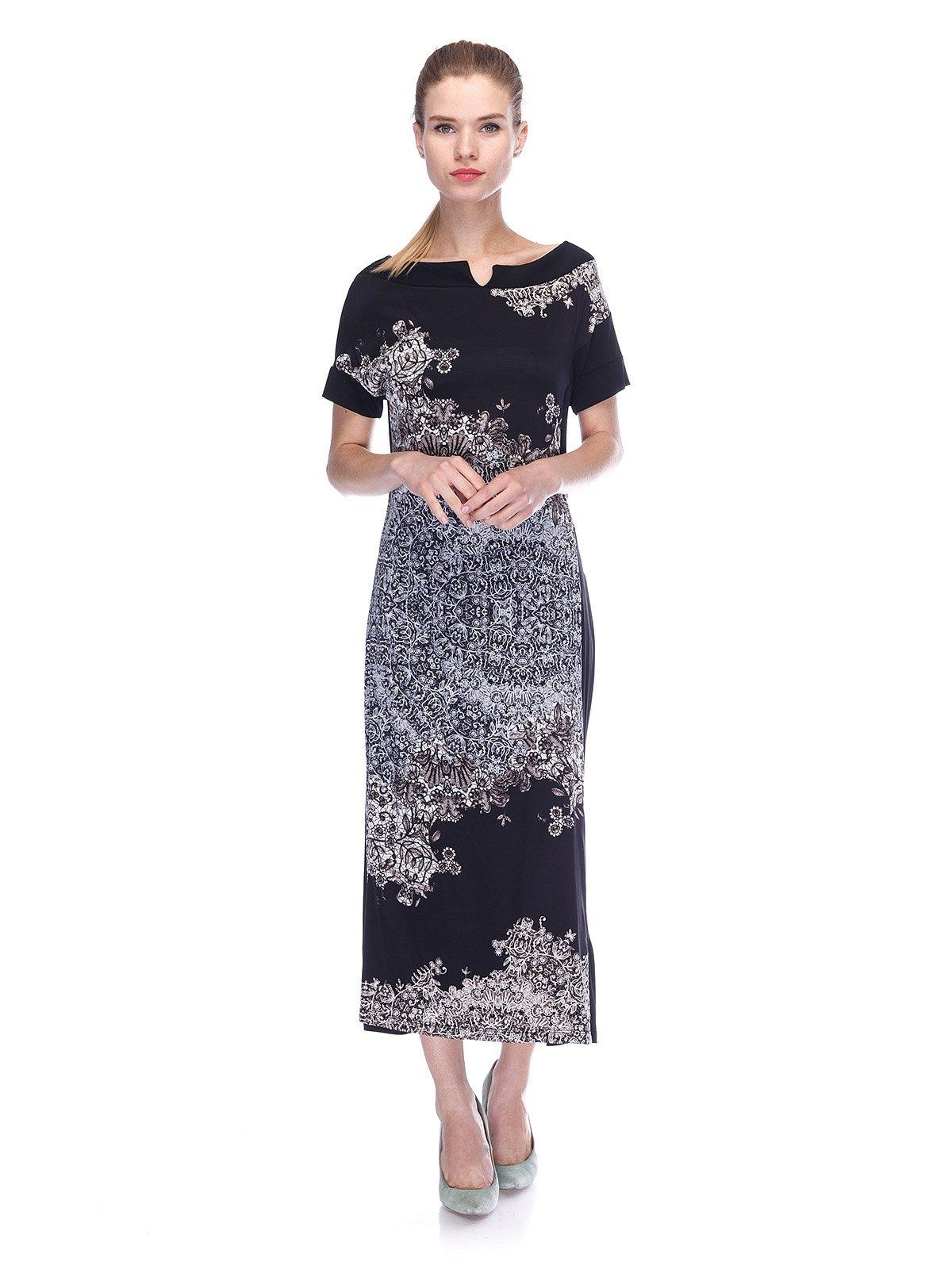 Сукня чорна в принт   3455620