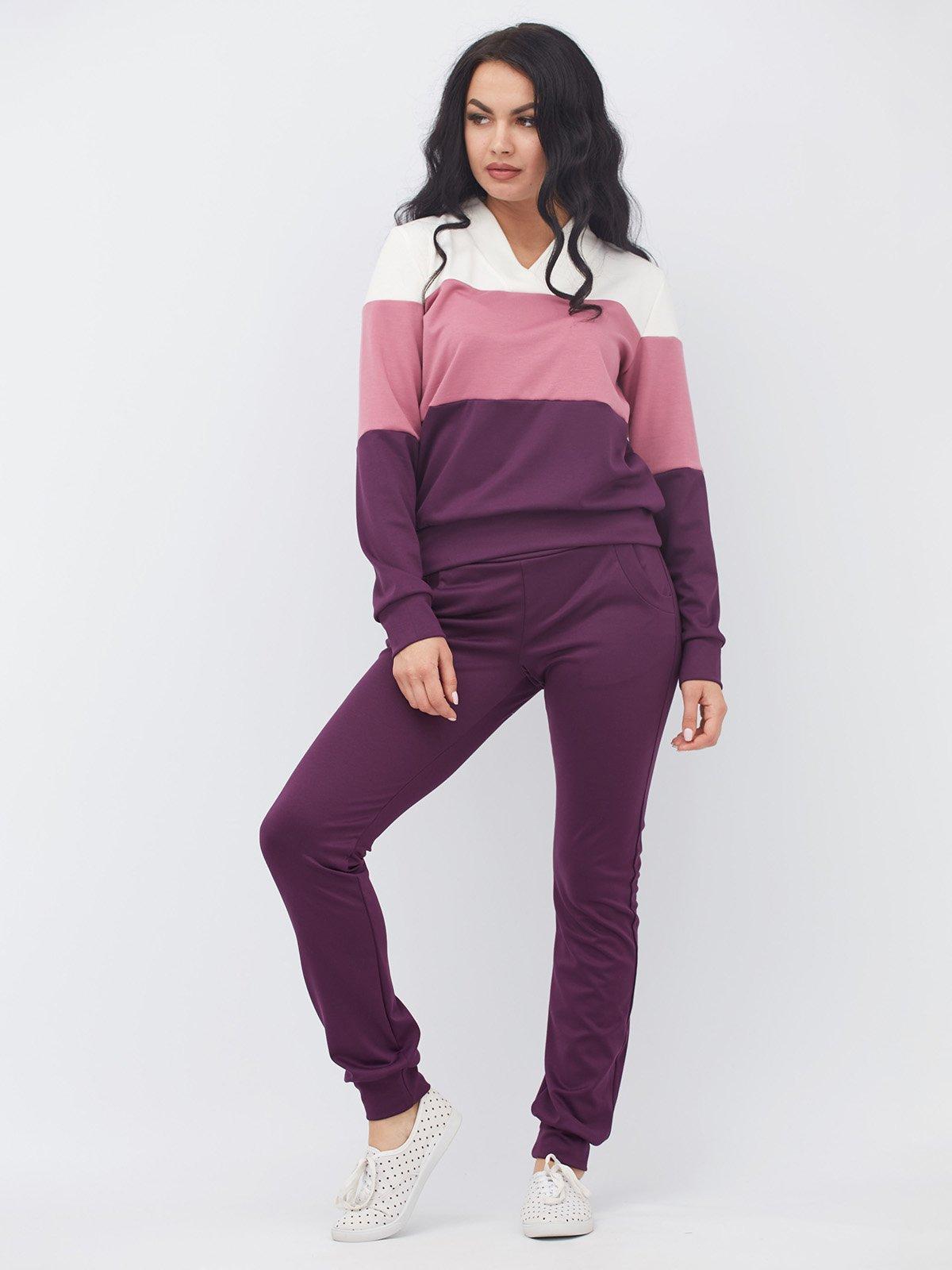 Костюм в спортивному стилі: пуловер і штани | 3464417