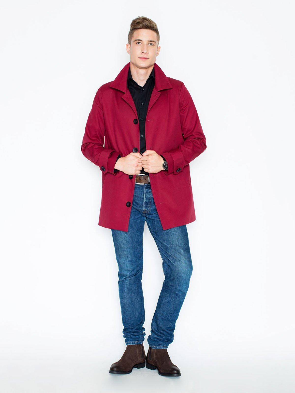 Пальто малиновое | 3464943 | фото 2