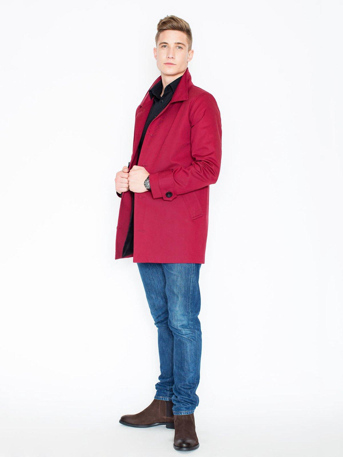 Пальто малиновое | 3464943 | фото 3