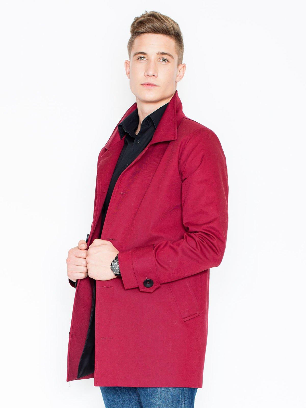 Пальто малиновое | 3464943 | фото 4