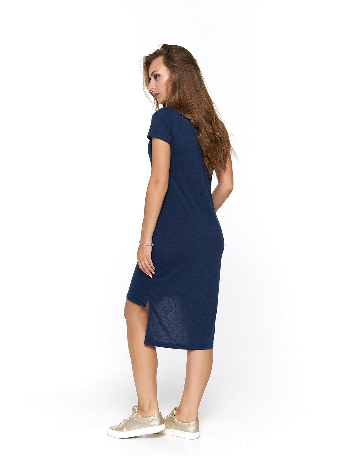 Сукня синя з принтом | 3475042 | фото 2