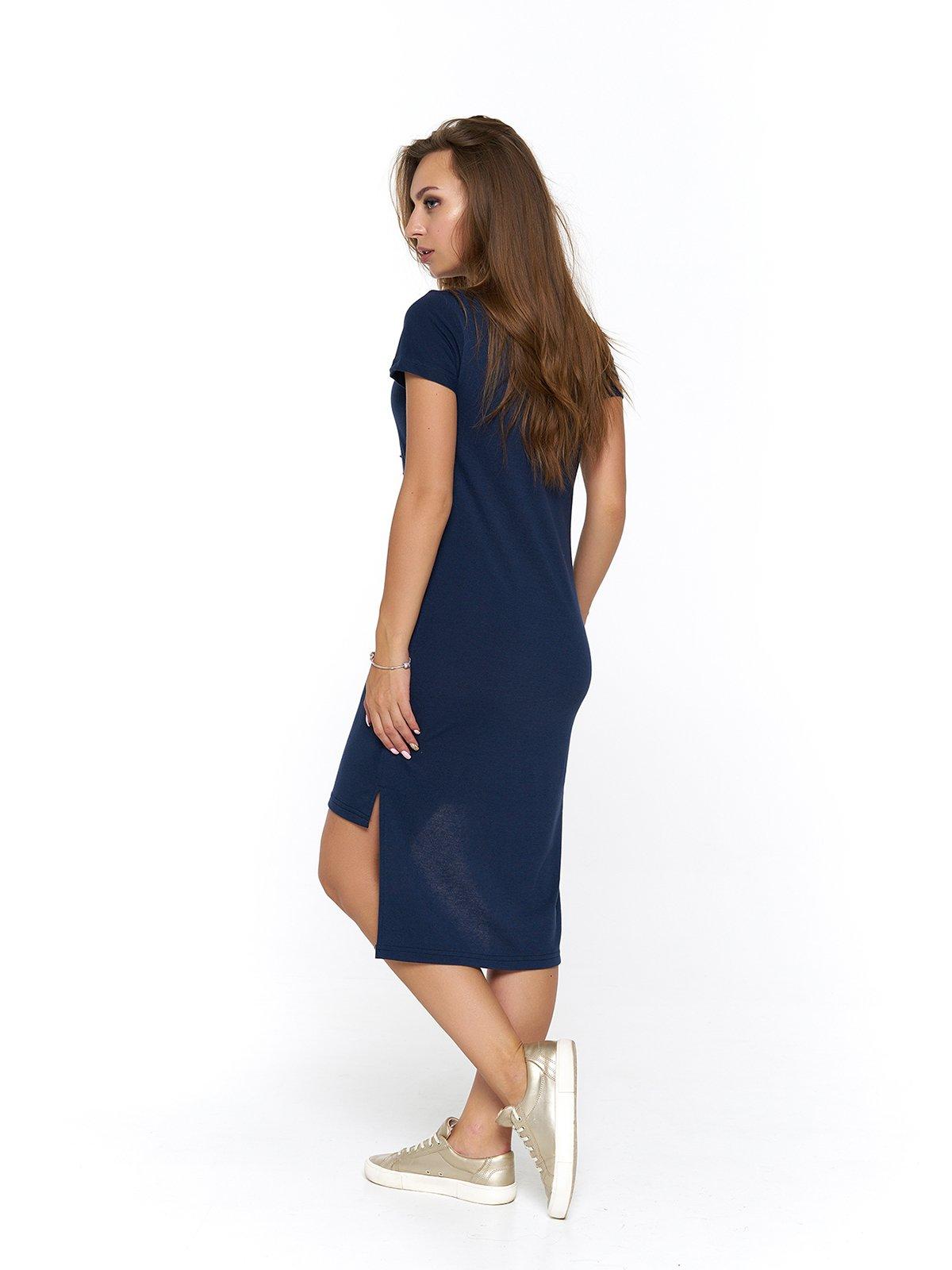 Сукня синя з принтом | 3475043 | фото 2