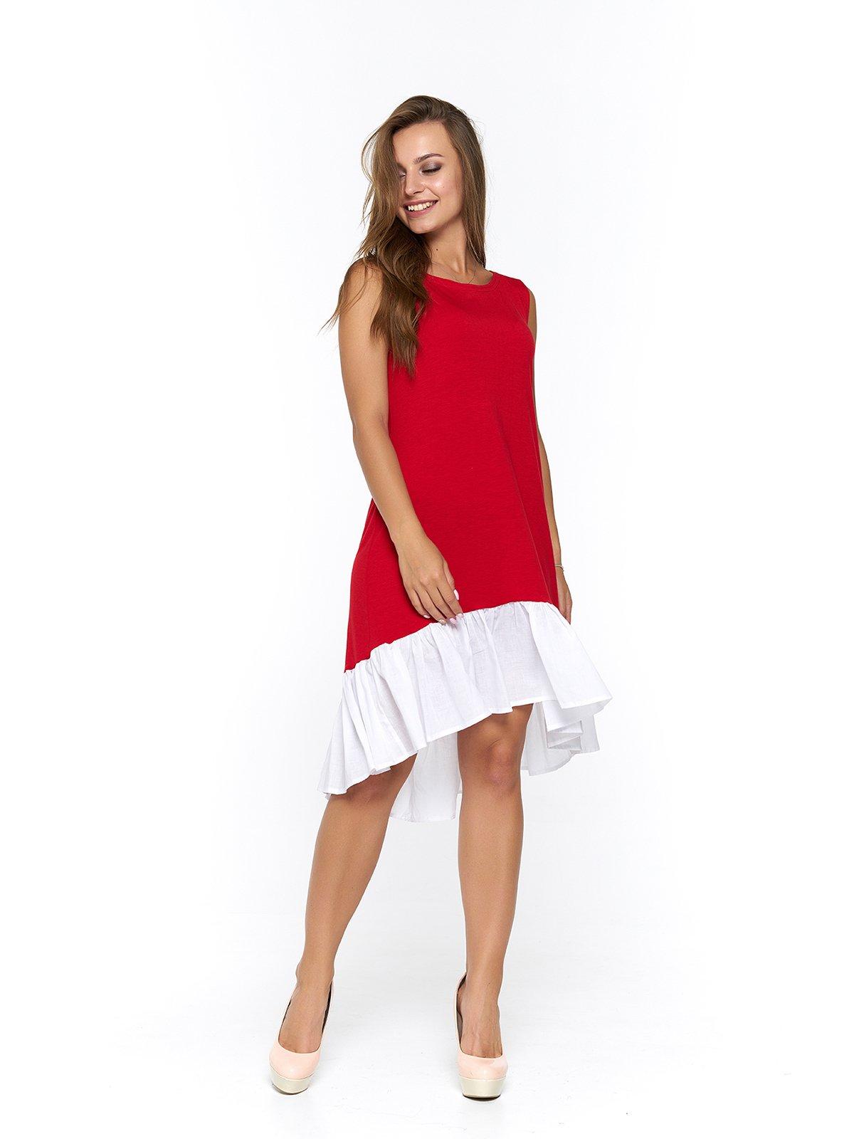 Платье бело-красное | 3474958