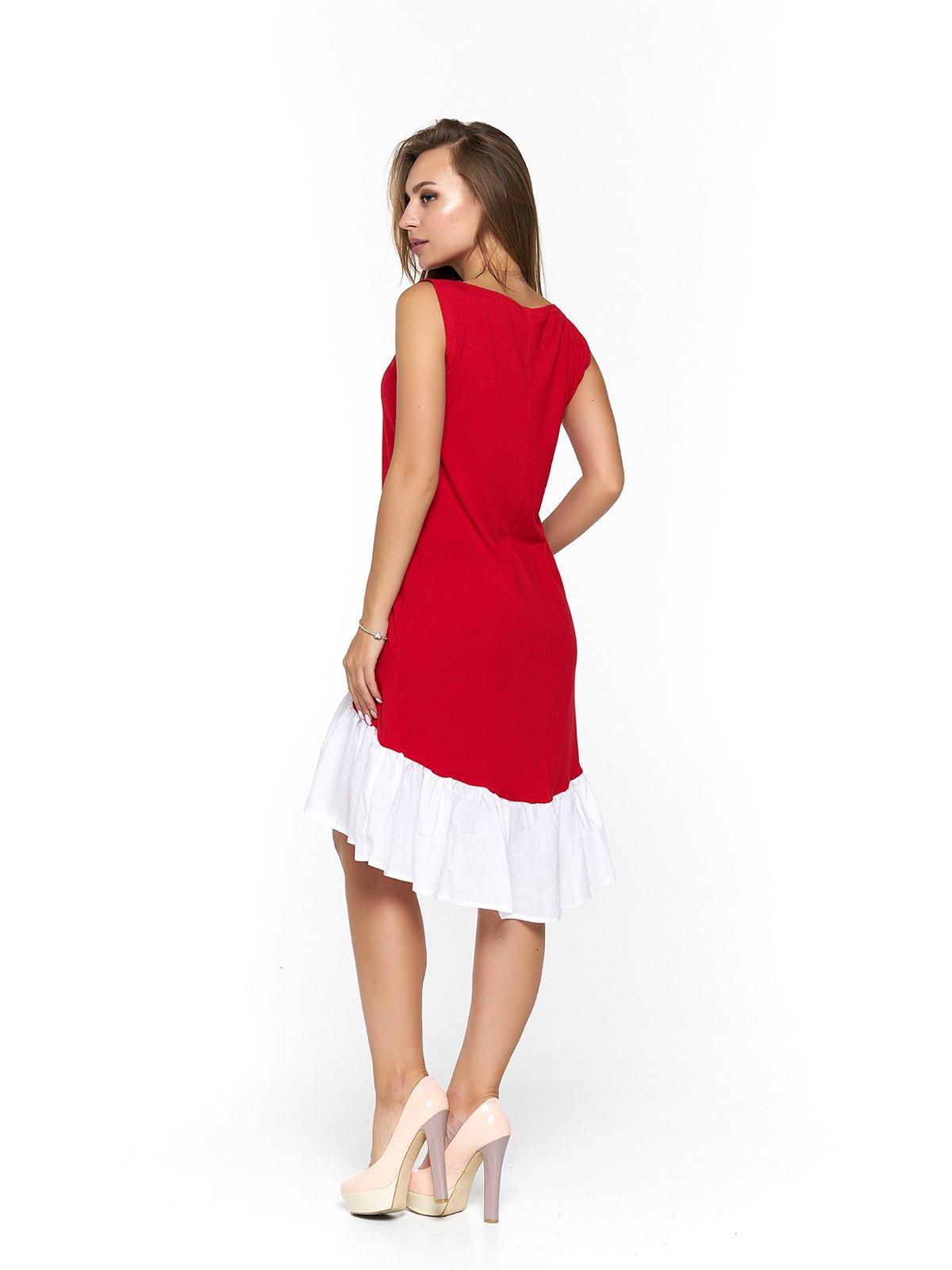 Платье бело-красное | 3474958 | фото 2