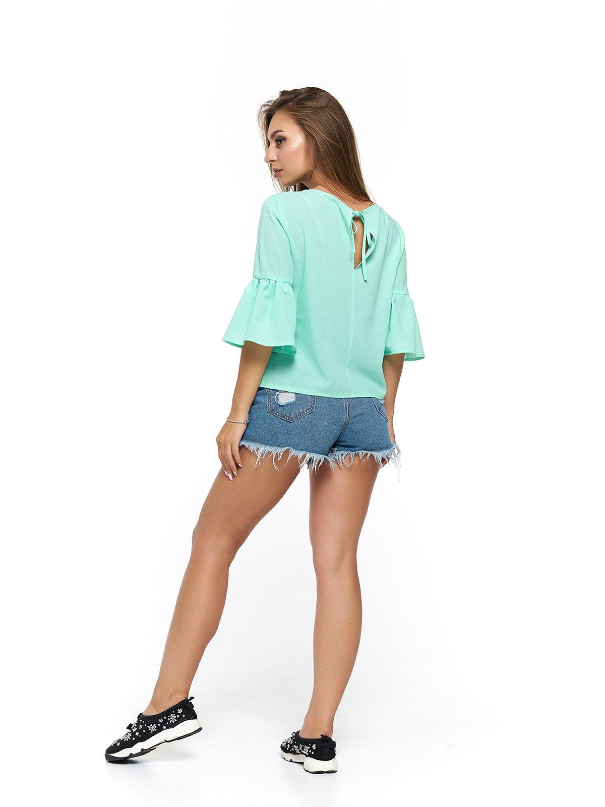 Блуза мятного цвета | 3475002 | фото 2