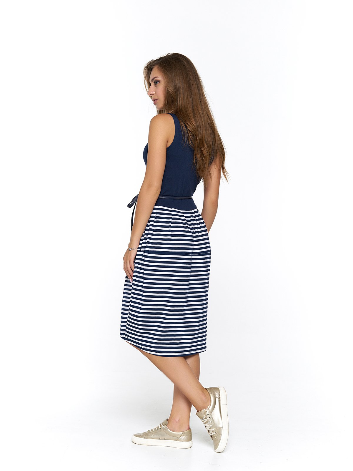 Платье синее в полоску | 3475048 | фото 2