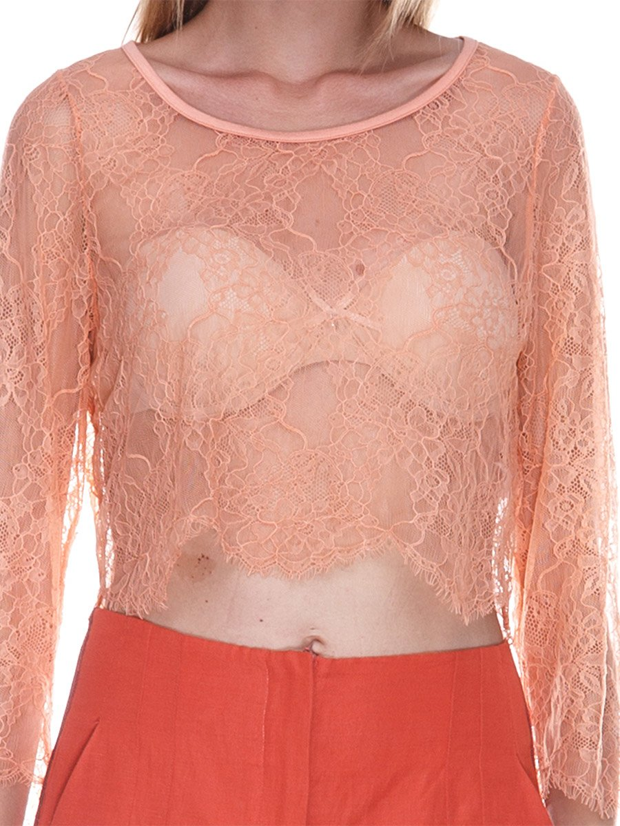 Блуза персикового цвета | 3469361 | фото 3