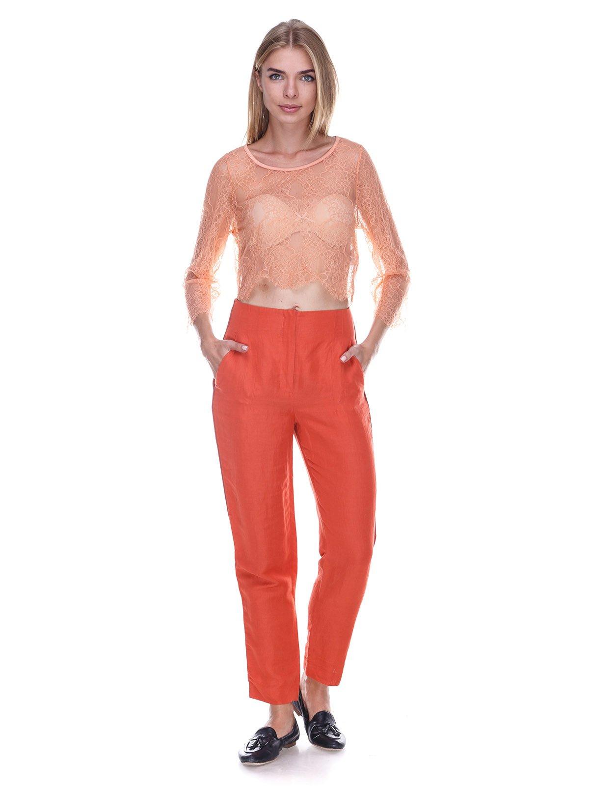 Блуза персикового цвета | 3469361 | фото 4