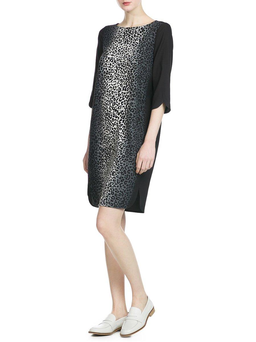 Сукня чорна з анімалістичним принтом | 2354958