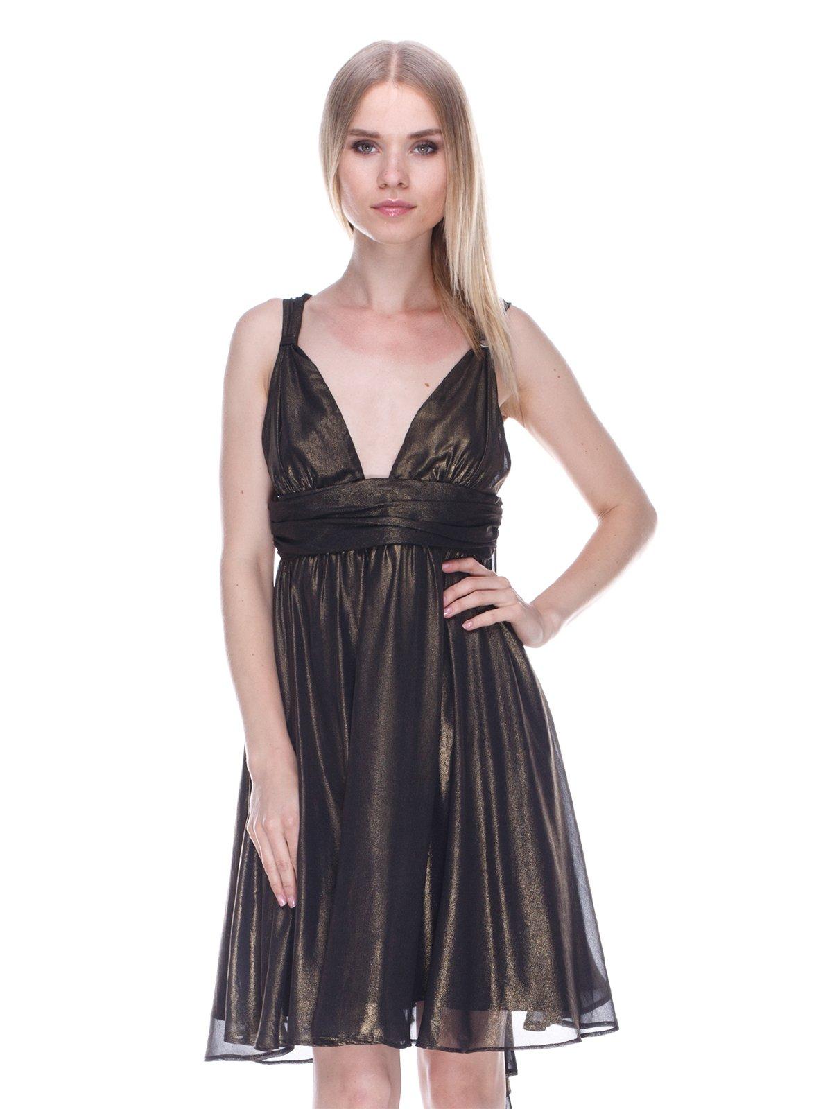 Платье черно-золотистое   3478042