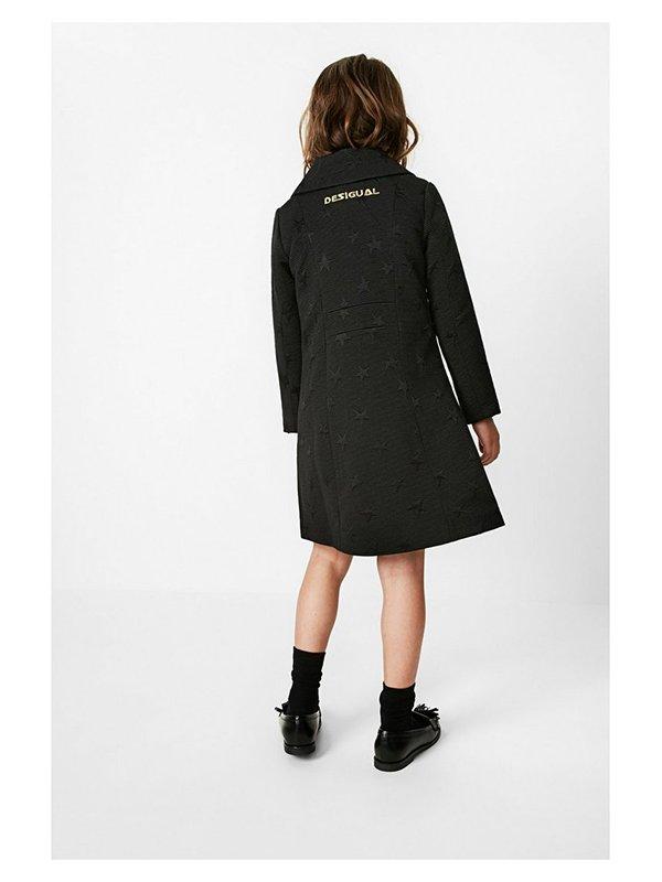 Пальто черное в принт | 3487717 | фото 2