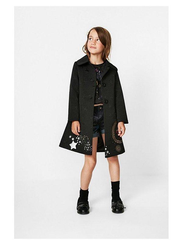 Пальто черное в принт | 3487717 | фото 3