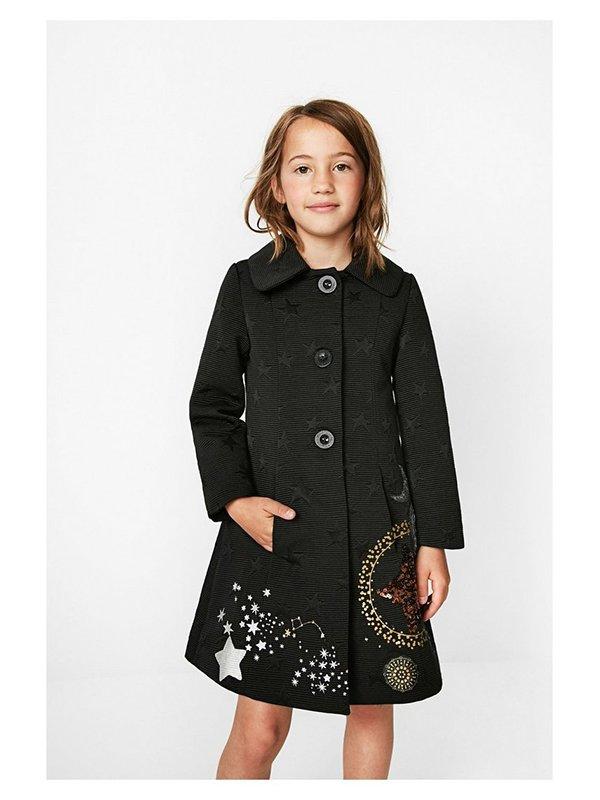 Пальто черное в принт | 3487717 | фото 4