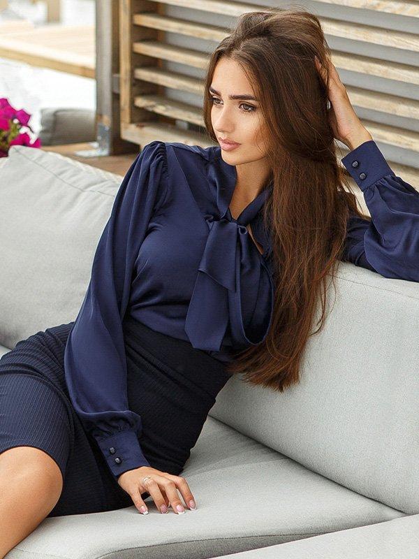 Блуза темно-синяя | 3487983