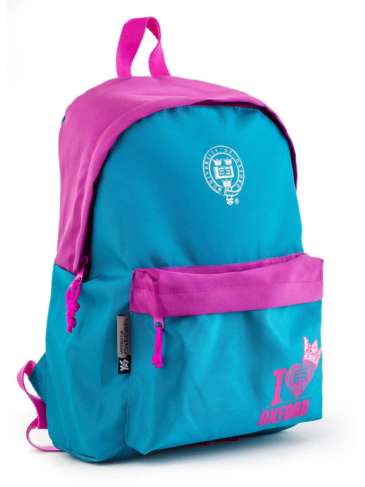 Рюкзак бірюзово-рожевий | 3492345