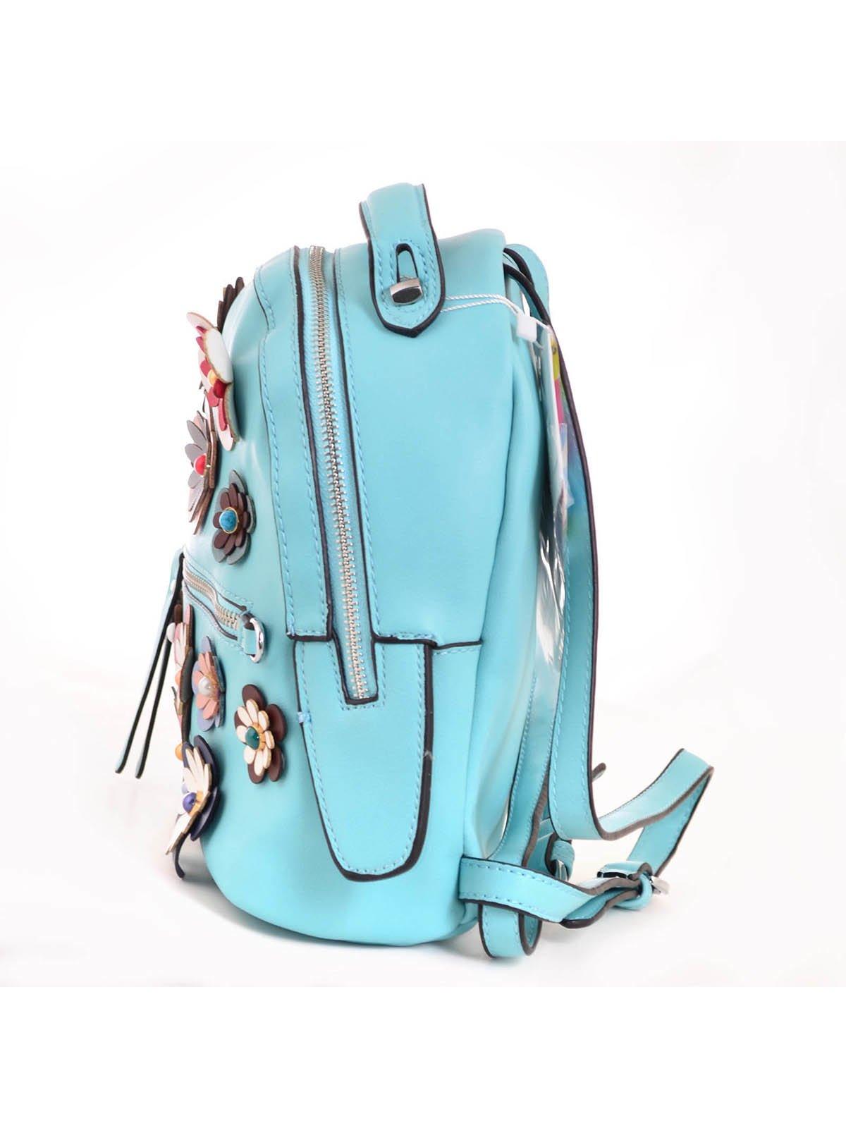 Рюкзак бірюзовий з декором | 3492478 | фото 3