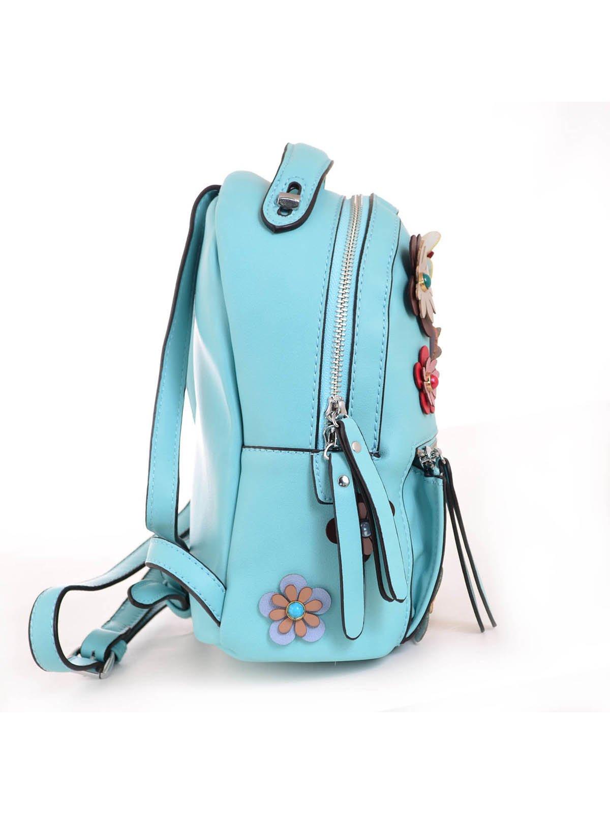 Рюкзак бірюзовий з декором | 3492478 | фото 4