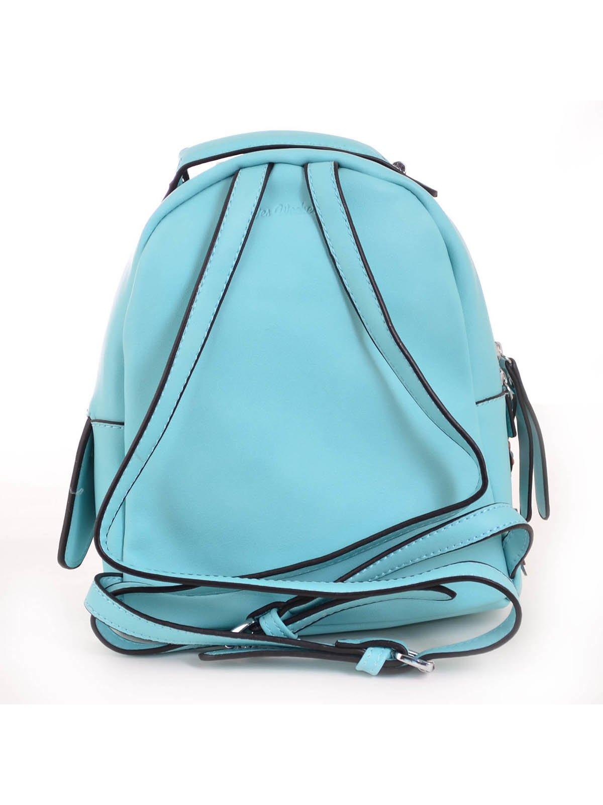 Рюкзак бірюзовий з декором | 3492478 | фото 5