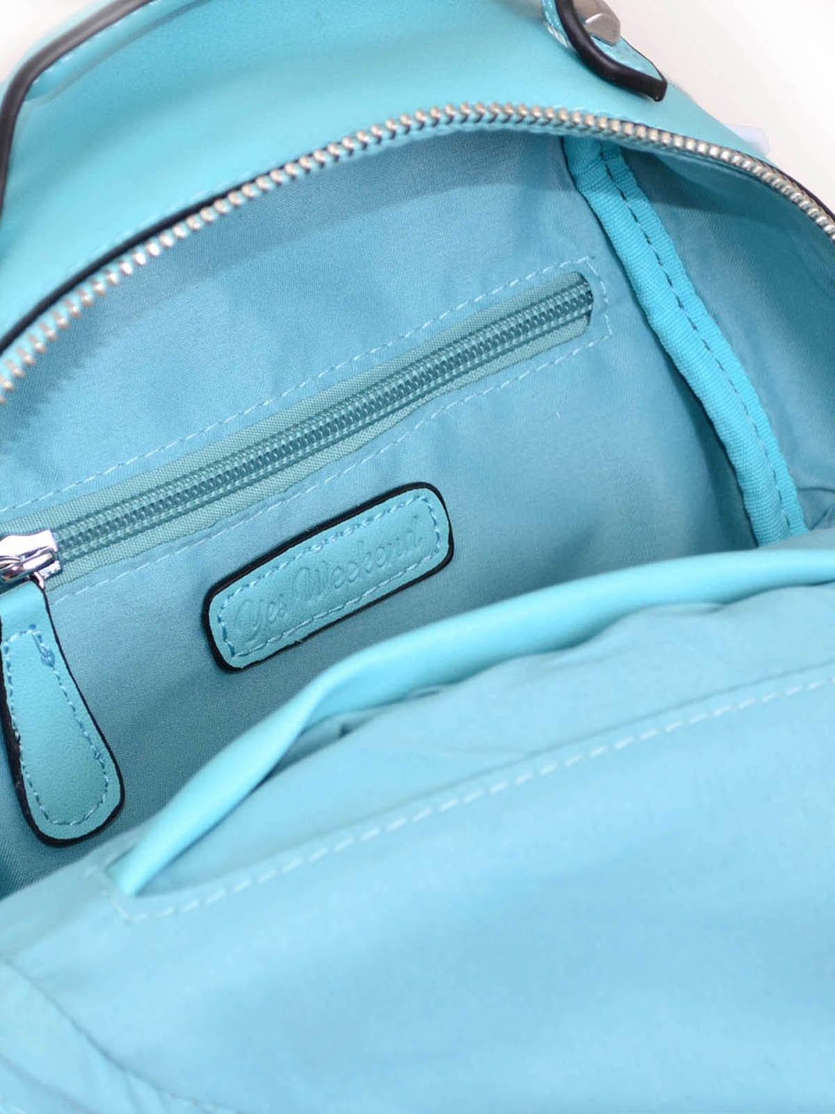Рюкзак бірюзовий з декором | 3492478 | фото 6