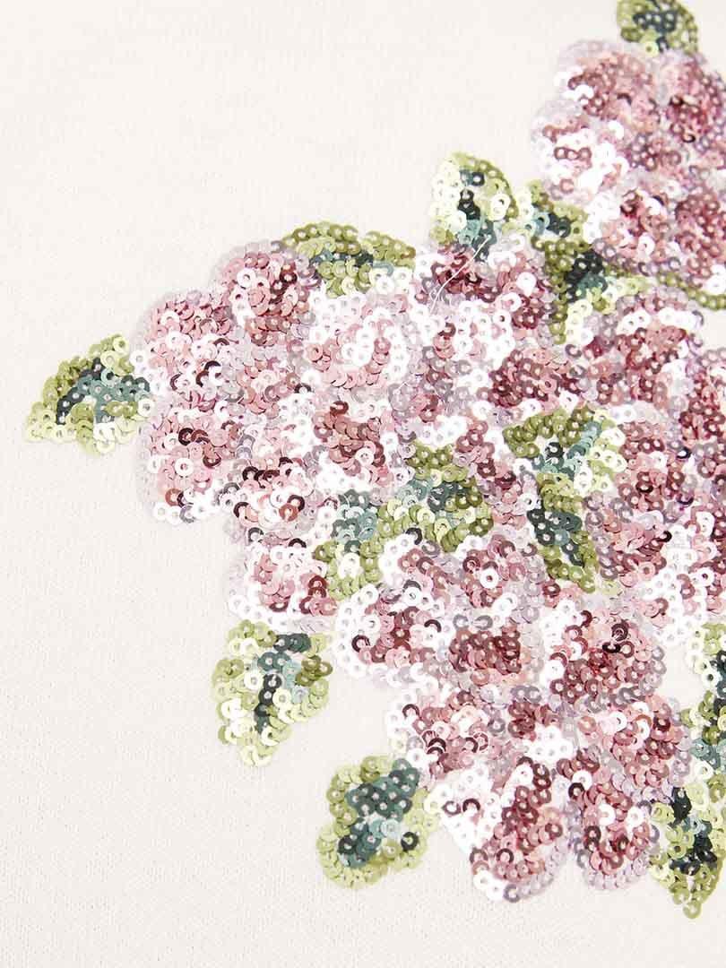 Топ белый в цветочным принтом   3438606   фото 5