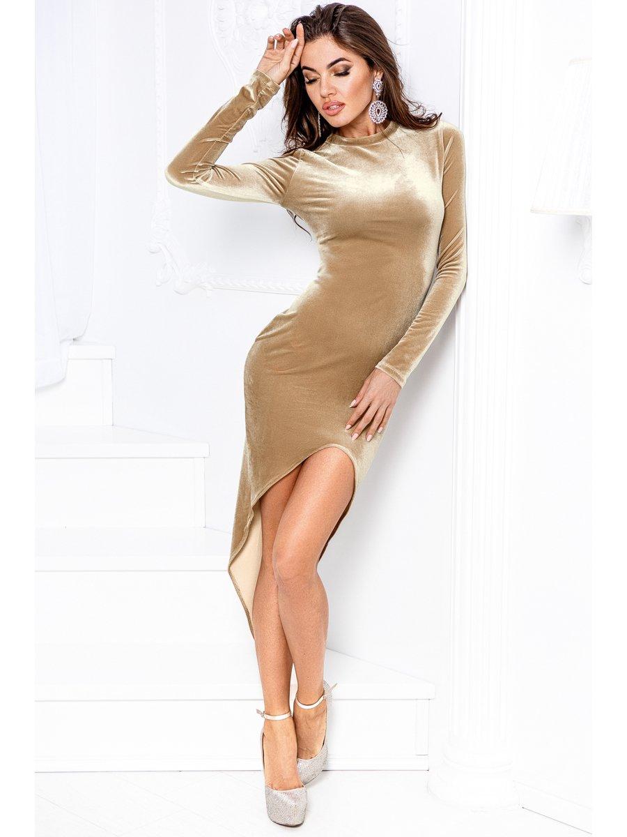 Платье бежевое | 3496465