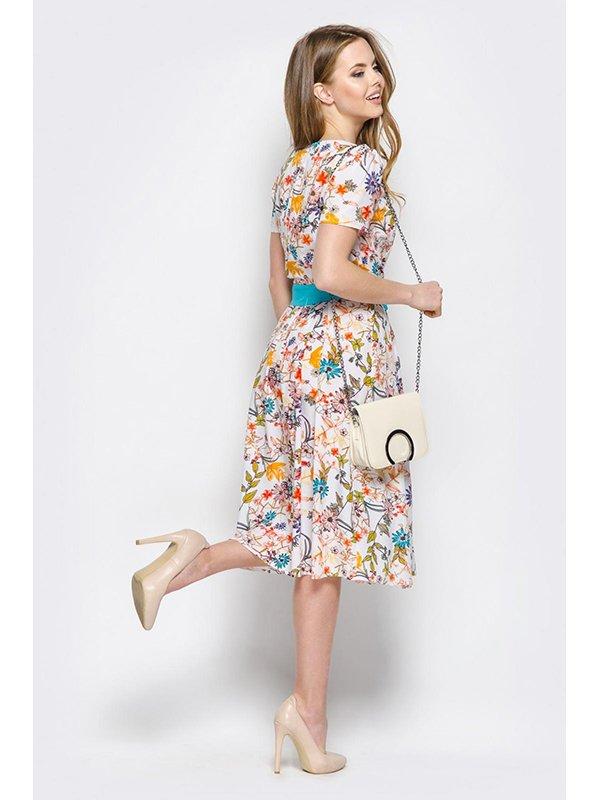 Платье цветочной расцветки | 3403491 | фото 2