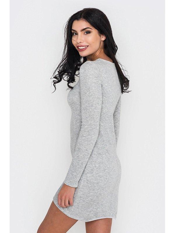 Платье серое | 3449013 | фото 3