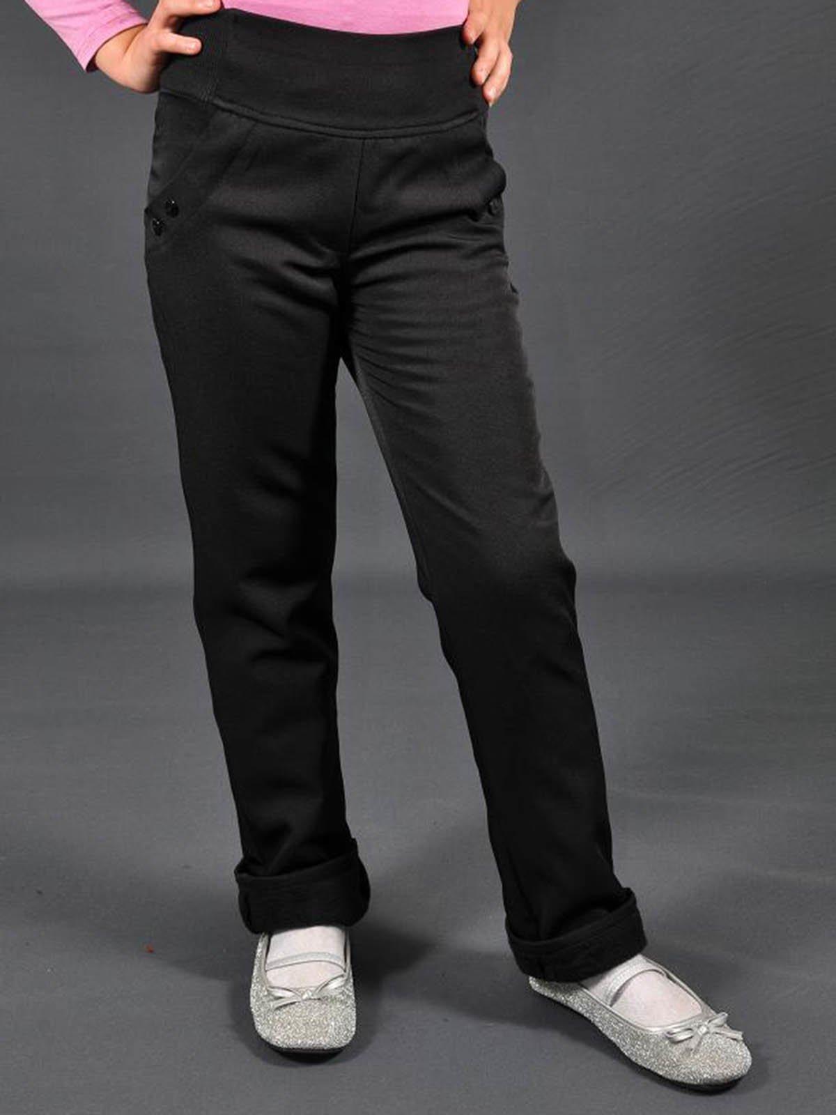 Штани чорні на флісі | 3271800