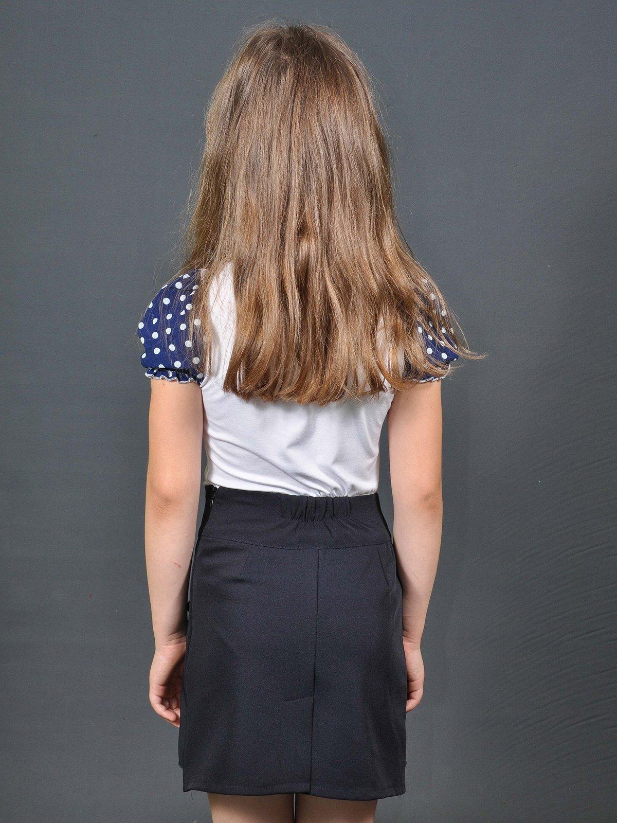 Блуза біло-синя в горошок   3468494   фото 2