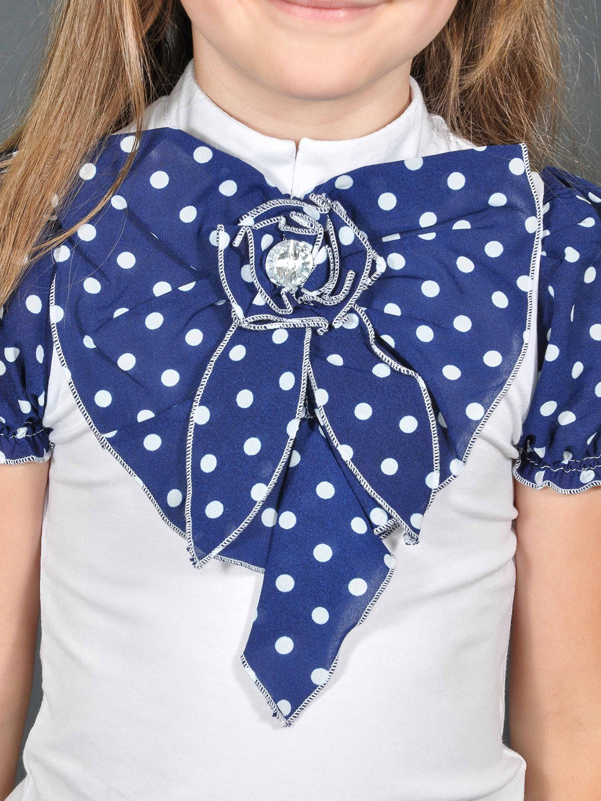 Блуза біло-синя в горошок   3468494   фото 3