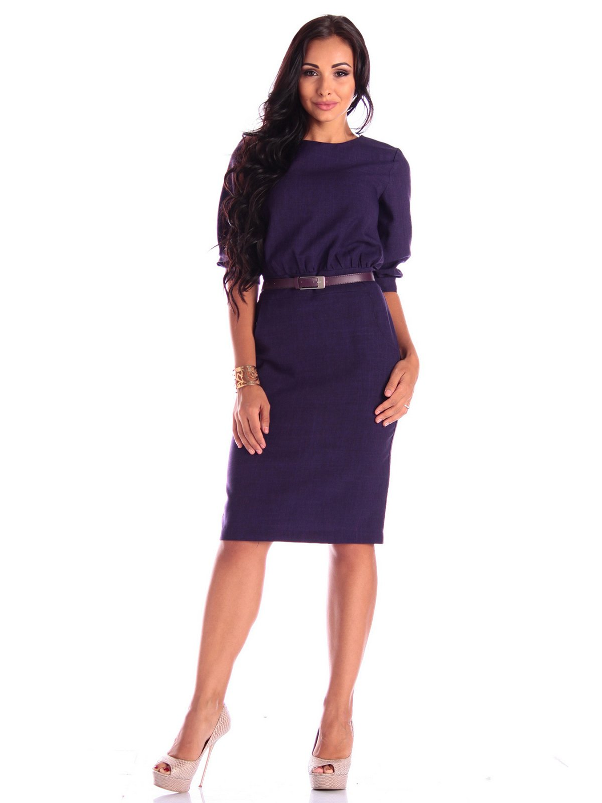 Платье темно-фиолетовое   3503893