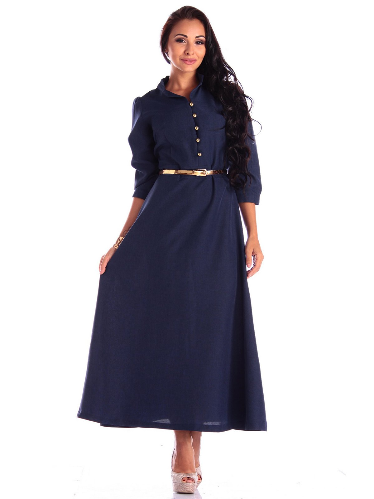 Платье темно-синее | 3503894